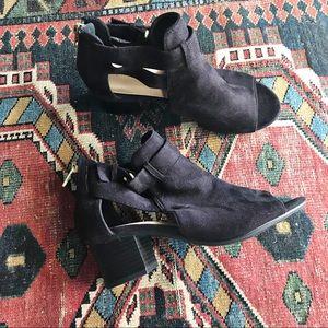 Cityclassified women's heel peep toe booties 5.5